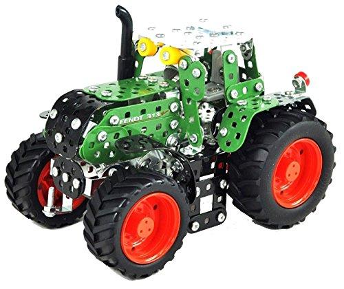 Tronico 10020 - Metallbaukasten Traktor Fendt 313 Vario, Maßstab 1:32, Mini Serie, grün, 405 Teile
