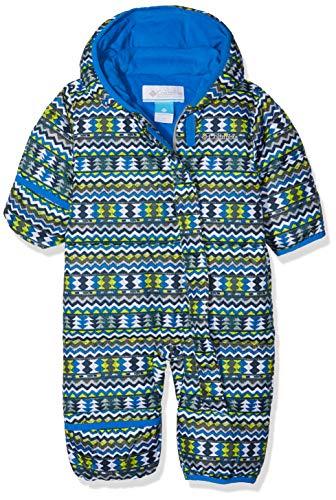 Columbia Sportswear Columbia Schneeanzug für Kinder, Snuggly Bunny Bunting, Polyester, blau (cool grey zigzag/super blue), Gr. 12/18 Monate, 1516331
