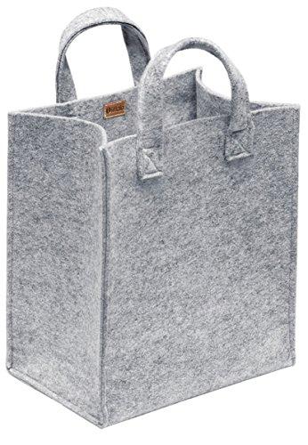 Iittala Meno von Harri Koskinen Stofftasche, Filz, Grau, 20 x 30 x 35 cm