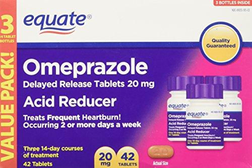 Equate Omeprazole 20 Milligram, Acid Reducer, Delayed Release, 42...