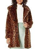 kensie Women's Faux Fur Reversible Coat, Leopard, M