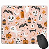 Halloween Haunting Blush Pink Jumbo Scale Gaming Mouse Pad Mousepad Non-Slip Rubber Mouse Mat Rectangle Mouse Pads for Desk Laptop Office Work