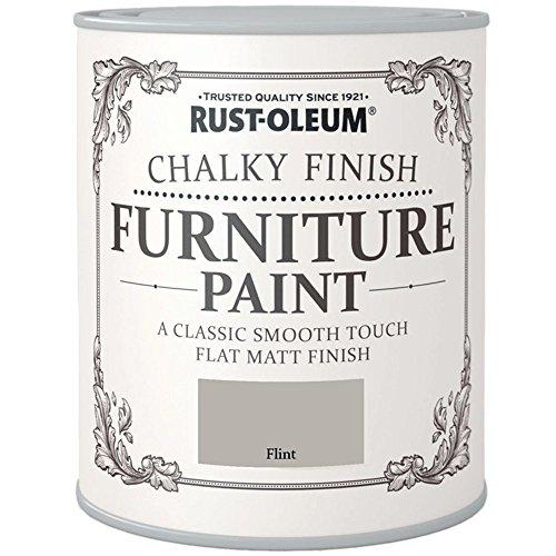 Rust-Oleum Chalky Finish Furniture Paint Flint Matt 750ml by Rustoleum