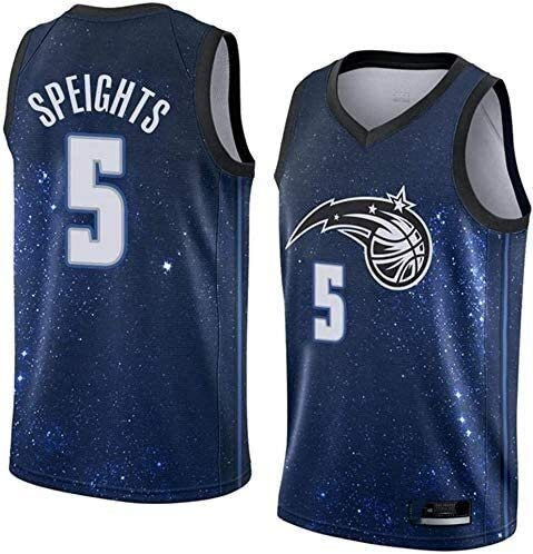 llp NBA Jersey Orlando Magic 5# Marreese Speights Classic Sin Mangas Baloncesto Chaleco Transpirable Camiseta Moda Hombres (Size : XX-Large)