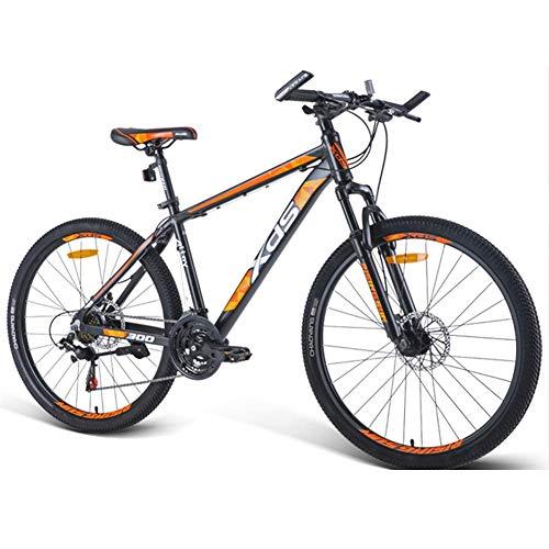 DJYD 26-Zoll-Mountainbikes, Aluminium 21-Speed Mountain Bike mit Doppelscheibenbremse, Erwachsener Alpine Fahrrad, Anti-Rutsch-Bikes, Hardtail Mountainbike, Orange, 17 Inches FDWFN