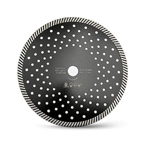 ZJN-JN Sägeblatt Schnelle Kappsäge 230 mm Diamant Hot Pressed Diamant Turbo Blade-Multi Löcher Schnittgeschwindigkeit Discs 10mm Segmenthöhe Schneiden, A Schneidewerkzeug