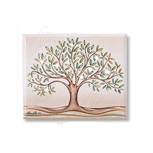Acca, Bild, QD.14 AL, Lebensbaum-Motiv, mit Swarovski-Kristallen, aus Holz, Größe: 18x 22cm
