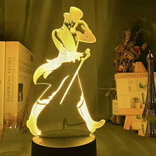 Johnnie Walker Keep Walking Luz de noche LED para sala de bar Iluminación decorativa Lámpara de mesa colorida con batería USB-QT08_16 colores con control remoto