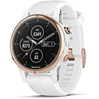 Garmin Fenix 5S Plus Sapphire Multisport GPS Smartwatch (Rose Gold/ White)