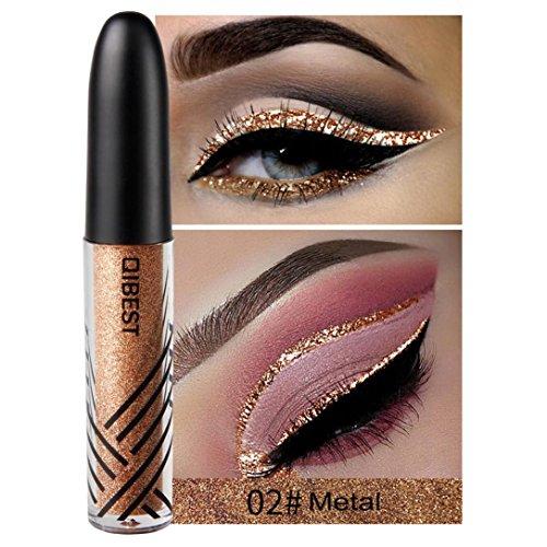 Coloré(TM) Palettes de maquillage Paillettes Poudre Ombre Eyeliner liquide fard à paupières brillant Eyeliner liquide fard à paupières brillant (B)