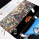 DMWSD Mouse Pad Table Mat Street Fighter Game Anime Character Fighters All Over The World Group Photo Oversized Non-Slip Professional Gaming Mouse Pad for Desk Laptop PC Peripherals