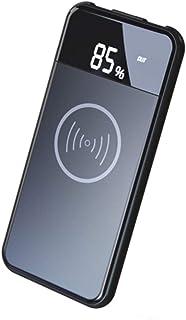 WangLx Ele Cargador inalámbrico 10000mAh Power Bank con Batería Externa, Pantalla LED, Compatible para iPhone X/XS/XS MAX/XR y Compatible para Galaxy S9 Plus/S9/S8 Plus/S8 y Todos Móviles con QI