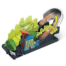 4. Hot Wheels Dino Coaster Attack Playset