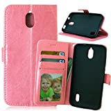 Docrax Compatible with Huawei Y625 Case, Premium PU Leather
