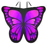 Seawhisper Alas de mariposa para disfraz de mujer, alas de hada, para Halloween, carnaval, color rosa