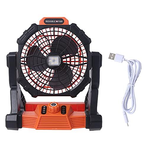 Ventilador de camping al aire libre PING con linterna LED y gancho USB recargable 7800 mAh ventilador de escritorio colgante para tienda de campaña de viaje dormitorio