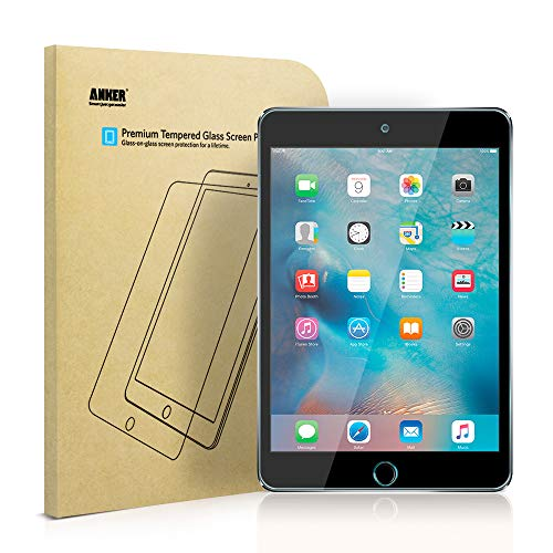 iPad Mini 4 Screen Protector -Anker Premium Tempered-Glass Tablet Screen Protector with Retina...