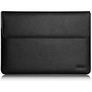 "ProCase Surface Laptop 2017 / Surface Book MacBook Pro 13 Case Sleeve, Protective Sleeve Cover for 13"" MacBook Pro 2018 2017 2016 / Pro Retina/MacBook Air 13.3"" / Surface Book Tablet Laptop -Black"