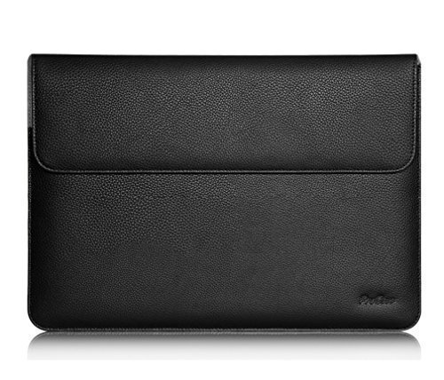 ProCase Surface Laptop 2 / Surface Book 2 /Macbook Pro 13 /Macbook Air 13.3' Sleeve Bag, Premium Leather Protective Sleeve Case for 13' 13.3' 13.5' Inch Laptop –Black