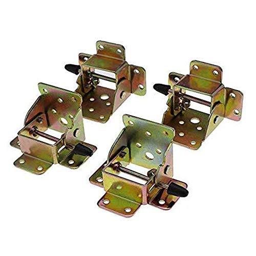 Lheng Locking Folding Table Chair Leg Self Lock Foldable Hinges Brackets Hinge 4Pcs