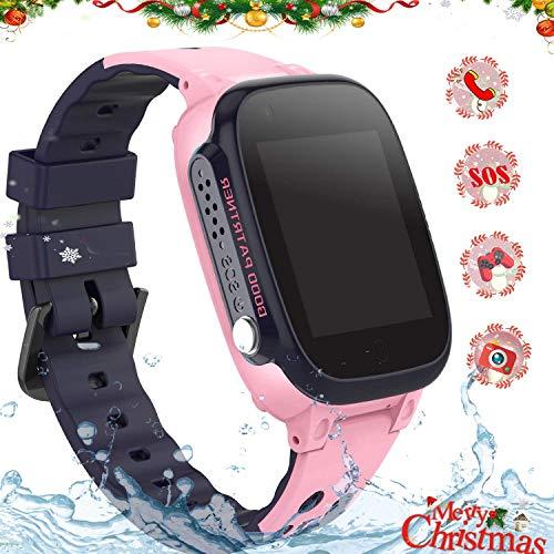 Kinder Smartwatch Telefon Uhr,wasserdichte Smart Watch für Jungen Mädchen mit LBS Tracker SOS Anruf Kamera Anti-Lost Voice Chat für Jungen Mädchen Student Geschenk