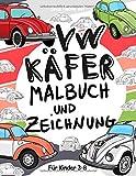 VW Käfer Malbuch und Zeichnung für Kinder 3 - 8: Lassen Sie Ihr Kind Spaß haben Färbung Volkswagen Käfer und Zeichnung Räder mit diesem fantastischen Malbuch für Kinder bis zu 8 Jahre alt.