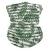 Bandana Gesichtsmaske Staubschutz Outdoor Sport Kopftuch Sonne UV Motorrad grüne Blätter Exotische Pflanzen Muster Gesicht Schal für Damen Herren