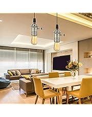 【𝐏𝐚𝐚𝐬-𝐩𝐫𝐨𝐦𝐨𝐭𝐢𝐞𝐦𝐚𝐚𝐧𝐝】ciepła biel Easy Assemble E27 cokół lampy, oprawka lampy, do korytarza, salonu, szafy schodowej Home (Green Bronze)