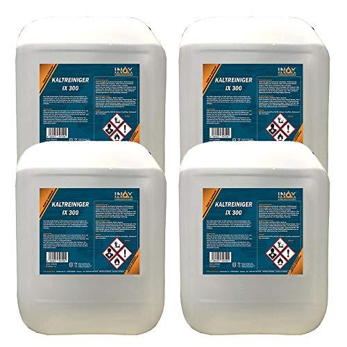 INOX® IX 300 Nettoyant à Froid pour Moteur, Nettoyant concentré Contre Les huiles, Le Goudron et Les Graisses - 4 x 5L