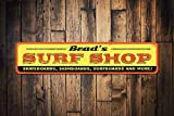Surf Shop Sign, Personalised Skateboard Surfers Surfboard Shop Name Sign, Custom Metal Beach House Decor - Quality Aluminum Shop Decoration, Metal Signs Tin Plaque Wall Art Poster 18