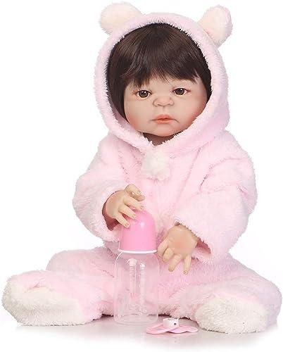 CHENG Simulation Doll Full Glue Realistic Dolls Kinder Birthday Geschenk Spielzeug 22.5 Zoll
