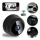 Womdee Mini Caméra Wi-FI, Caméra Cachée sans Fil HD 1080p Magnétique, Caméra De Sécurité Intérieure avec Support, Détection De Mouvement Intelligente, Caméra De Vision Nocturne pour Iphone Android