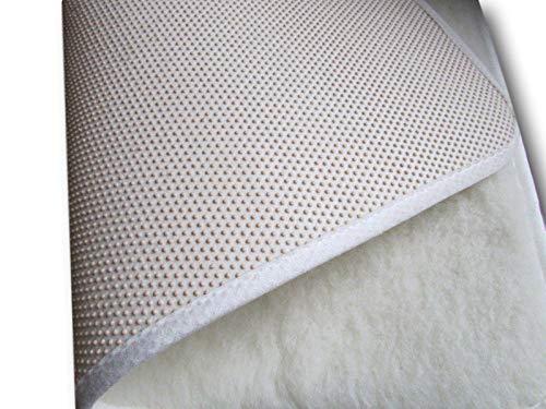 Yogamatte Sportmatte Pilatesmatte aus Wolle (Merinowolle (weiß), 50x180)