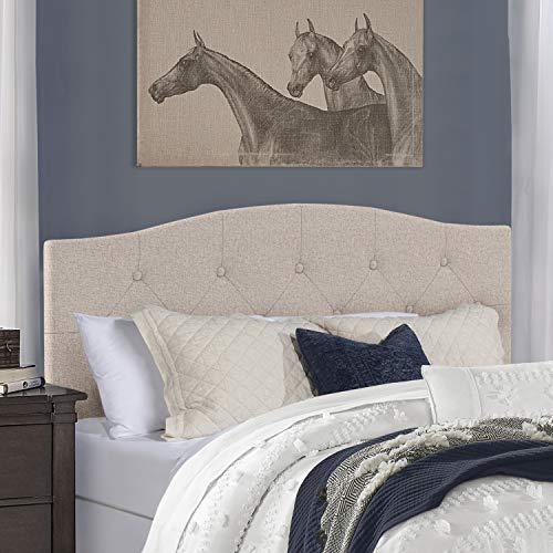 Hillsdale Provence Upholstered Headboard, Full/Queen, Linen