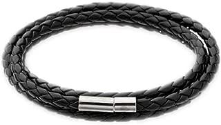 ILYUS Men Fashion Leather Bracelets Wristband Charm Bangle Handmade Round Rope Jewelry Accessories Bracelets