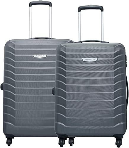 Juke Grey Polycarbonate Hardsided Luggage Set Of 2 Medium Large