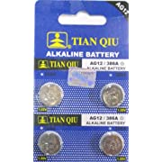4 pack AG12 LR43 1186 386 Alklaine Button Cell battery