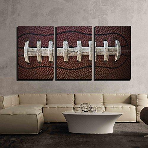 "wall26 - American Football Laces - Canvas Art Wall Decor - 16""x24""x3 Panels"