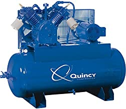 product image for Quincy QT-15 Splash Lubricated Air Compressor with MAX Package - 15 HP, 460 Volt, 3 Phase, 120 Gallon Horizontal, Model Number 2153DS12HCA46
