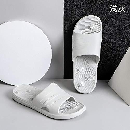 LNLJ - Pantuflas de interior para mujer, sandalias de masaje desodorantes antideslizantes, suela suave, General-Light GreyMale 40-41