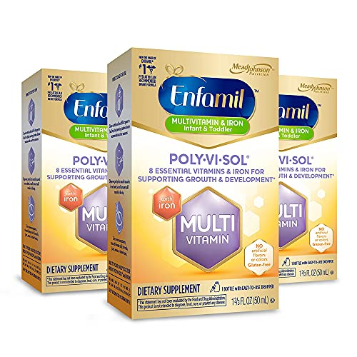 Enfamil Poly-Vi-Sol Multivitamin Supplement Drops with Iron 50 mL...