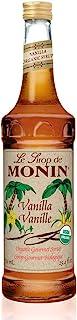 Monin – Organic Vanilla Syrup, Naturally Smooth Sweetness, Great for Coffee, Shakes..