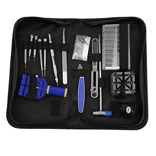 Bubbry Professionele 378 stuks horlogereparatie-gereedschapskist opener verbindings-remover horlogemaker