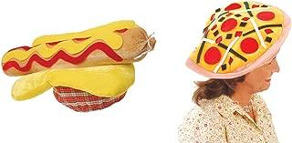 U.S. Toy Hot Dog Hat & Pizza Hat 2 Piece Bundle Set