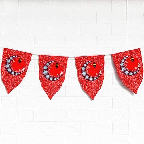 mooderff Eid Mubarak Ramadan Kareem Banner moslim Festival Decoratie Festival Party Mondster vlag 10PCS / Set