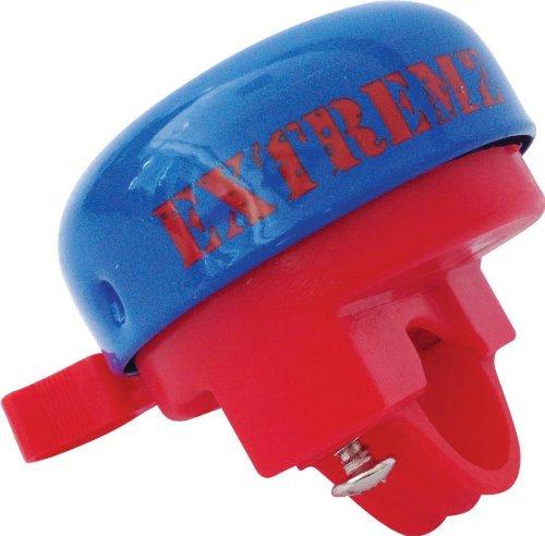 Disney Fahrradklingel und Helm Mickey Mouse Metall mit Schraubbefestigung Kinder, Blau, M