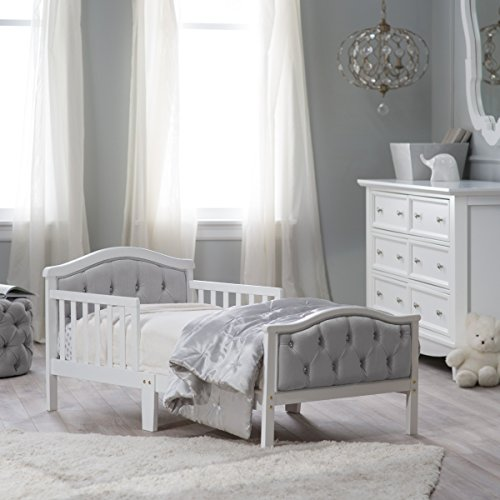 Girl's Orbelle Upholstered Toddler Bed/furniture - Gray/french White, Fit's Crib Mattress