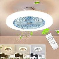 LEDランプが付いている光の天井のファンが付いている天井のファンリモコンの調節可能な風速が暖かい白/ニュートラルホワイト/クールホワイト - 3色の調光可能な36W天井灯-青