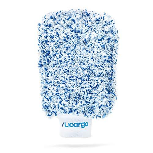 LICARGO® Premium Autowaschhandschuh aus ultraweicher Mikrofaser - extrem saugstark - entfernt hartnäckigen Schmutz mühelos - Waschhandschuh Auto. Mikrofaser Handschuh, Wash Mitt, Auto Handschuh