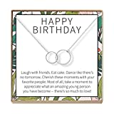 GIFT READY BOX, CONVENIENTLY PACKAGED: This Birthday Gifts for Girls gift box comes with a thoughtfully written message, a soft black velvet bag, and a blank note card enclosed in matching envelopes for a personal touch. SATISFACTION GUARANTEED: We k...